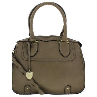 London Fog Womens Kensington Satchel Handbag Convertible Signature - MEDIUM