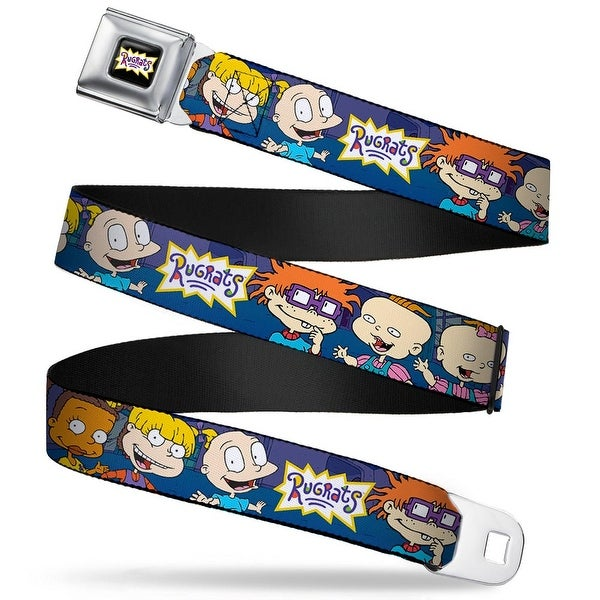 Rugrats Logo Rugrats Group Pose Webbing Seatbelt Belt Fashion Belt