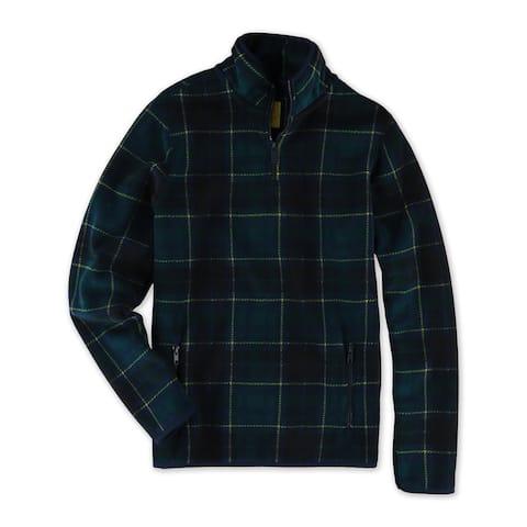 Aeropostale Mens Tartan Fleece Jacket