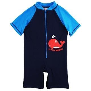 Sweet & Soft Toddler Boys Swimwear Whale Squirt Rashguard Beach Swimsuit