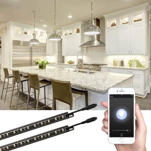 Smart LED Light Bar Kit, work with Alexa, Linkable, 5000K Daylight, 6 Pack