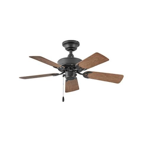 "Hinkley Cabana Outdoor Ceiling Fan - Matte Black - 36"""
