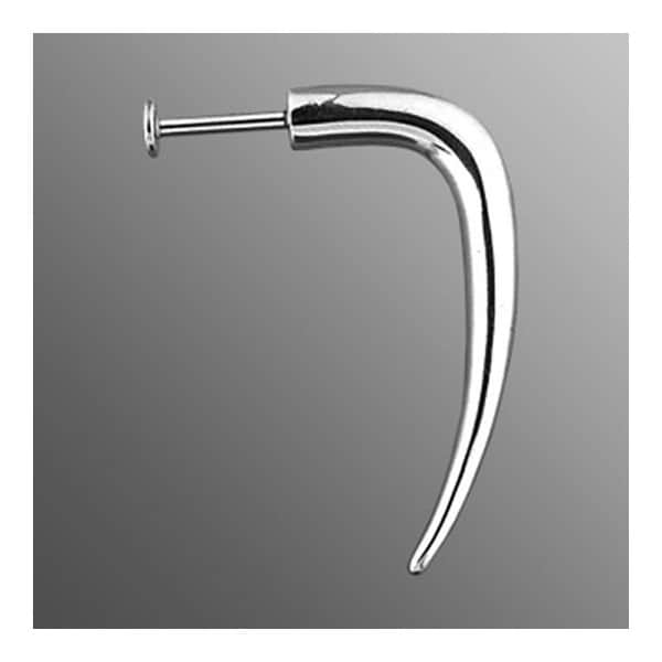 "Surgical Steel Labret with Curved Hook - 14GA 3/8"" Long (Sold Ind.)"
