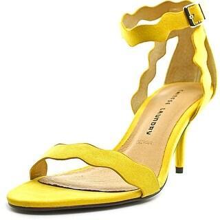 Chinese Laundry Rosie Women Open-Toe Canvas Yellow Slingback Heel