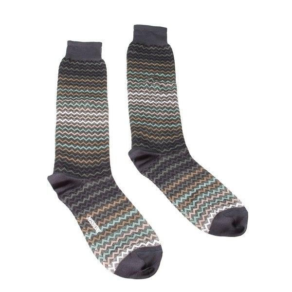Missoni GM00COU3968 0004 Brown/Green Knee Length Socks