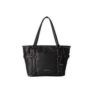 Jessica Simpson Womens Cassel Tote Handbag Faux Leather Shopper - Large