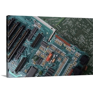 """High angle view of mother boards"" Canvas Wall Art"