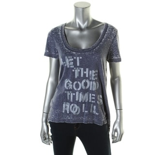 Dreamr Womens Good Times Burnout Hi-Low Graphic Tee