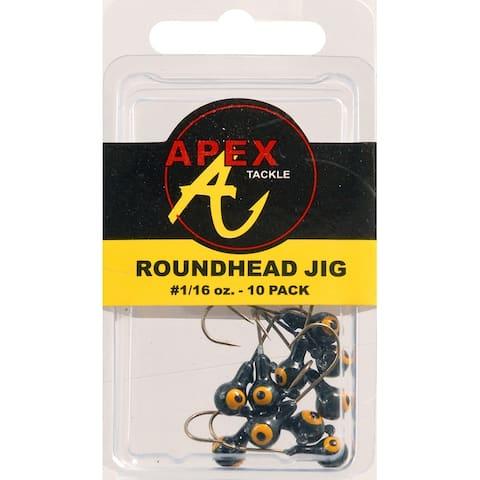 Apex ap116-10-7 jig heads 1/16oz 10pk blk