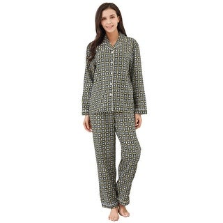 Richie House Women's Two-piece Cotton Pajama Set