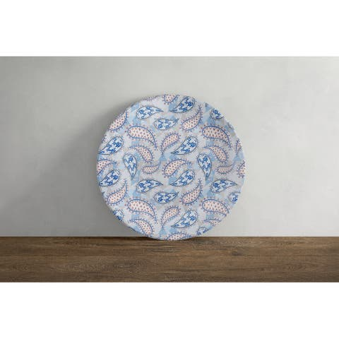 Amrita Sen Paisley on Abstract 10 in Decorative Microwave Safe Thermosaf Dinner Plate