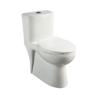 Mirabelle MIRAL241 Alledonia One-Piece High Efficiency ADA Height Toilet with El - White
