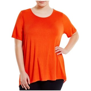 Love Scarlett Womens Plus Tunic Top Cowl Back Cut-Out