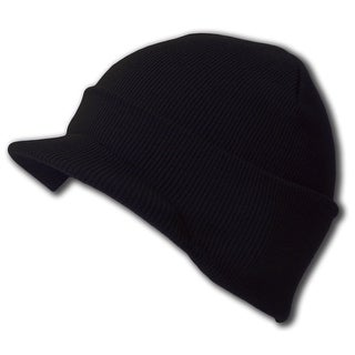 New Blank Cuff Winter Beanie Visor (Comes In 18 Different Colors)