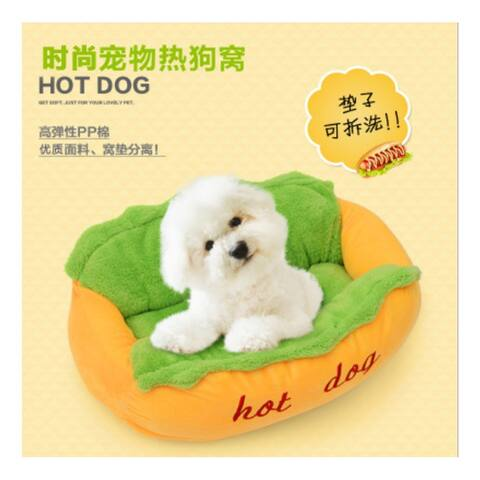Dog House Puppy Cat Toy Hot Dog Funny Various Size Large Small Home For Pet Cute