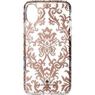 official photos 7faa2 fb193 Kate Spade New York Tapestry iPhone X Case Rose Gold | Overstock.com  Shopping - The Best Deals on Cases & Holders
