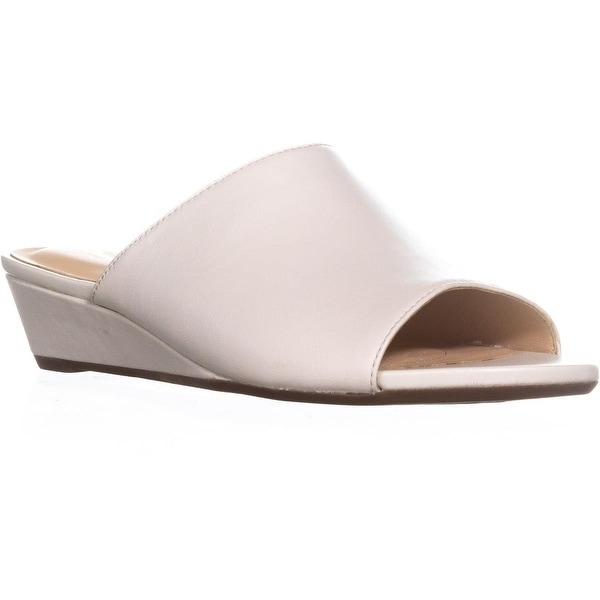 f33cd87a6c21e Clarks Parram Waltz Platform Wedge Sandals, White Leather - 7.5 US / 38 EU