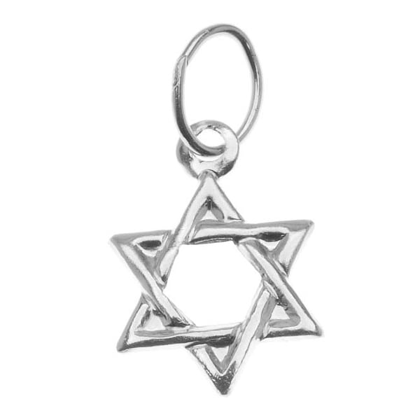 Sterling Silver Lightweight Jewish Star Of David Charm 11mm (1)