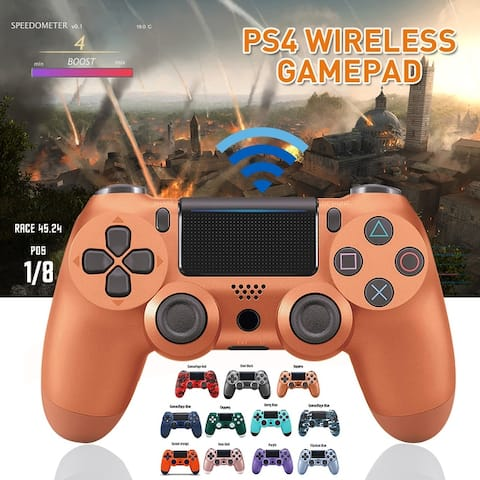 Game Handle Gamepad Bluetooth Controller Dual Vibration Touchpad 3.5mm Audio Jack LED Light