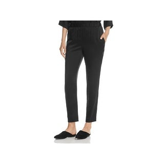 Eileen Fisher Womens Ankle Pants Silk Slouchy