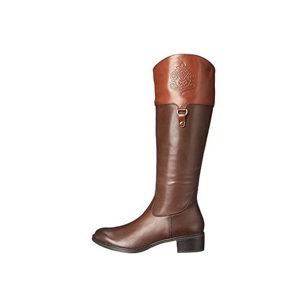 Franco Sarto Womens CLARITY Closed Toe Knee High Riding Boots