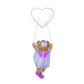 Plush Ballerina Bear Hanging Name Plaque