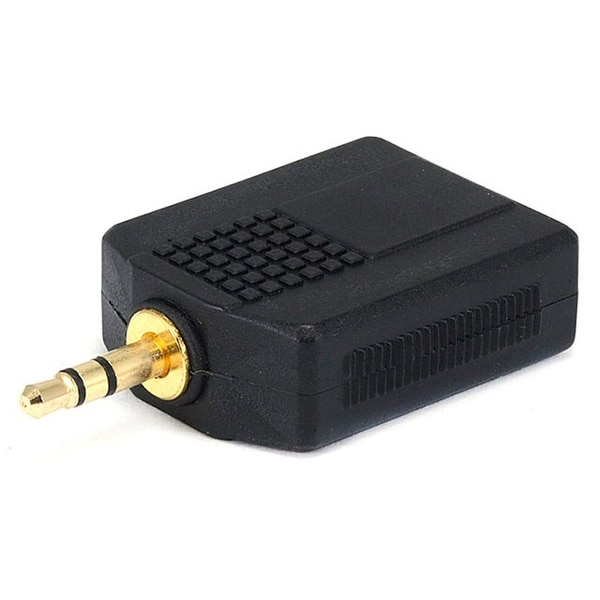 Monoprice 3.5mm TRS Stereo Plug to 2x 1/4in (6.35mm) TRS Stereo Jack Splitter Adapter, Gold Plated