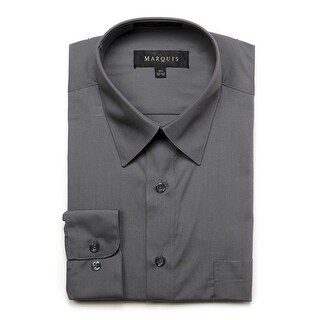 Marquis Men's Long Sleeve Regular Fit Dress Shirt
