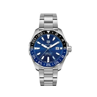 Link to Tag Heuer Men's WAY201T.BA0927 'Aquaracer GMT' Stainless Steel Watch - Blue Similar Items in Men's Watches