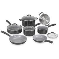 Cuisinart 11Pc Ceramic Nonstick XT Cookware - Black Nonstick Cookware Set - Black