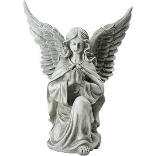 """13"""" Kneeling Praying Angel Religious Outdoor Garden Statue"""