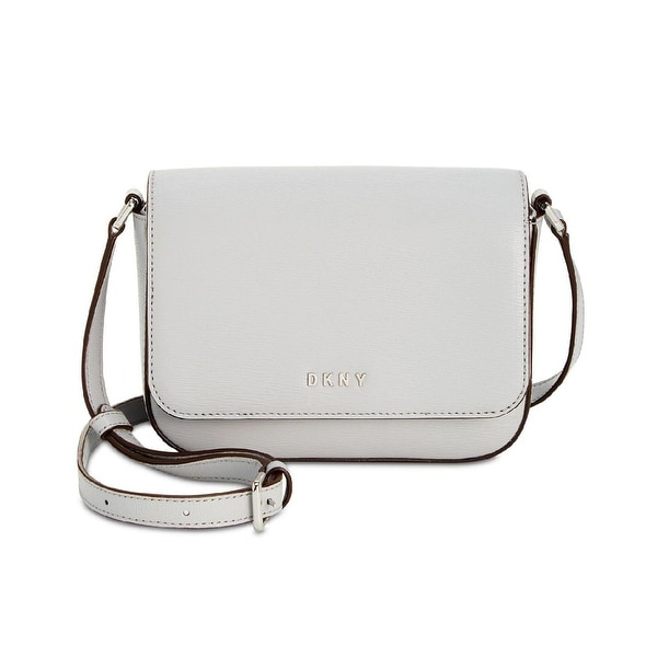 45ce59de135 Shop DKNY Small Paige Leather Crossbody Bag Light Blue - One size - Free  Shipping Today - Overstock.com - 24226650