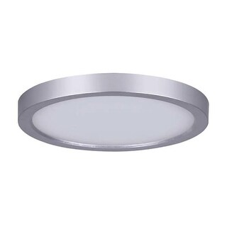 "Canarm LED-SM7DL-C Light 7"" Wide Integrated LED Outdoor Flush Mount Ceiling Fixture"