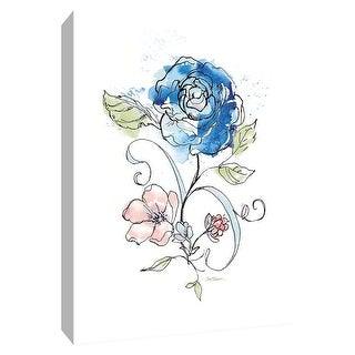"PTM Images 9-148521  PTM Canvas Collection 10"" x 8"" - ""Fairest Rose"" Giclee Flowers Art Print on Canvas"