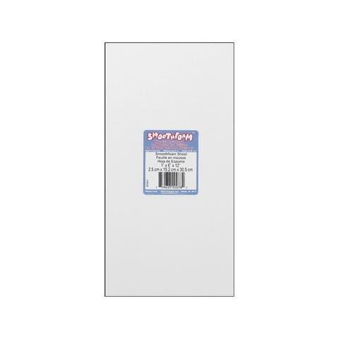 Rt957 plasteel smoothfoam sheet 1x6x12 wht 1pc