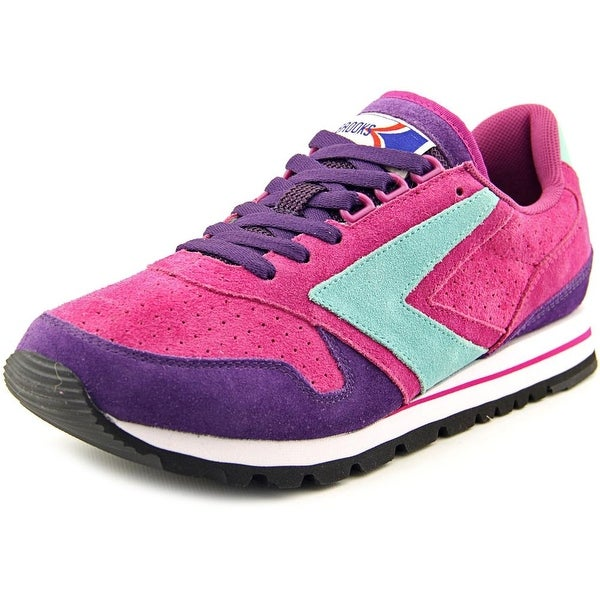 Brooks Heritage Chariot Women  Round Toe Suede Purple Sneakers