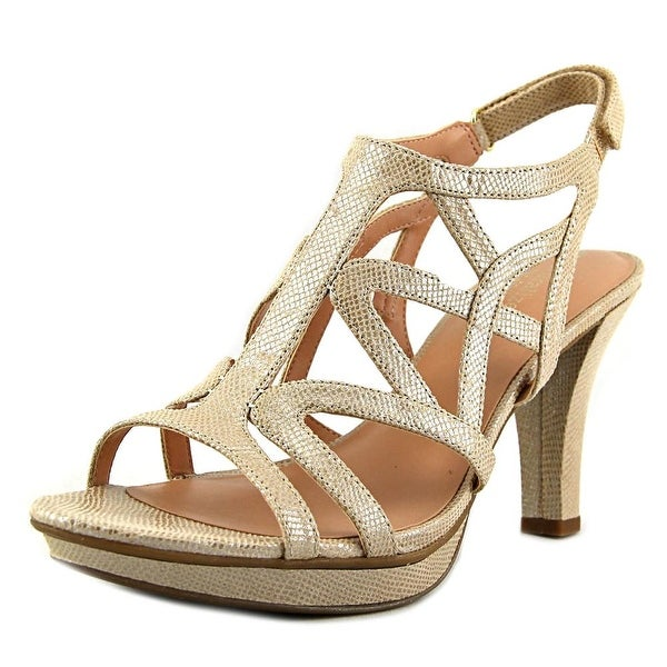 Naturalizer Danya Women W Open Toe Canvas Nude Sandals
