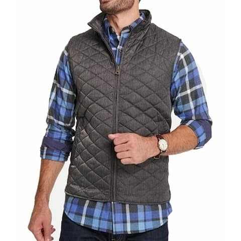 Weatherproof Mens Charcoal Gray Size Small S Full Zip Quilted Vest