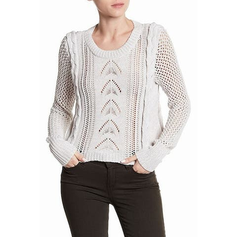 Wildfox Gray Women's Size Large L Button-Back Knitted Sweater