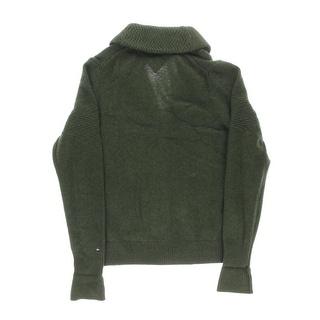 Tommy Hilfiger Mens Wool Shawl Collar Cardigan Sweater