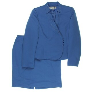 Tahari ASL Womens Eason 2PC Textured Skirt Suit