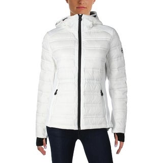 MICHAEL Michael Kors Womens Jacket Outerwear Contrast Trim