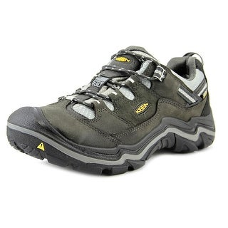 Keen Durand Low Wp Men Round Toe Leather Black Hiking Shoe