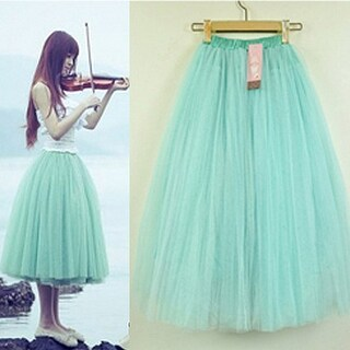 Women Stylish 5 Layers Tutu Princess Skirt Knee-Length Mini Party Dancing Dress