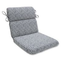 "40.5"" Simplistic Nature Stone Gray and Pearly White Chair Cushion"