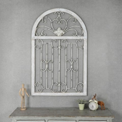 Metal Window Scroll Wall Decor