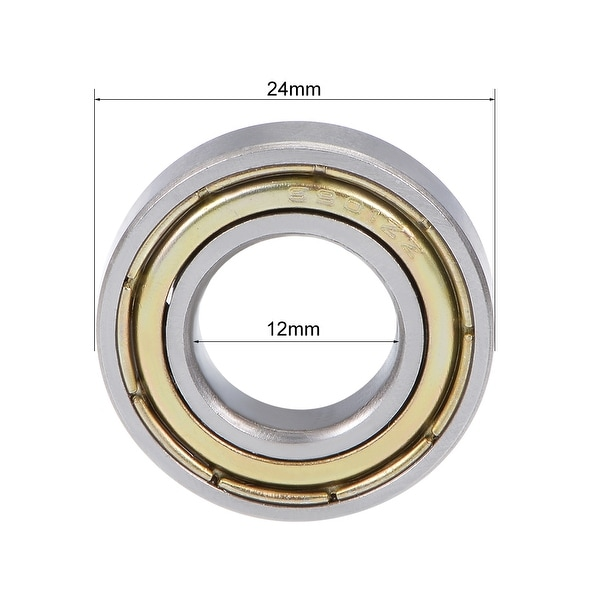5PCS 6901ZZ Deep Groove Metal Double Shielded Ball Bearing 12mm*24mm*6mm