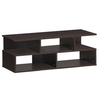 Entertainment Media Center TV Stand with Storage Shelves - Brown