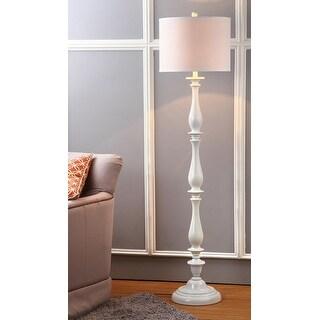 "Link to Safavieh Lighting 62-inch Bessie Candlestick White Floor Lamp - 15""x15""x62"" Similar Items in Floor Lamps"