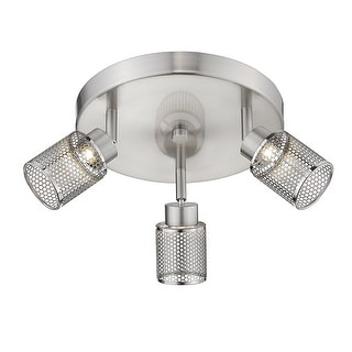 Link to Eglo Temmar 3-Light Brushed Nickel LED Flush Mount Track Lighting Similar Items in Track Lighting